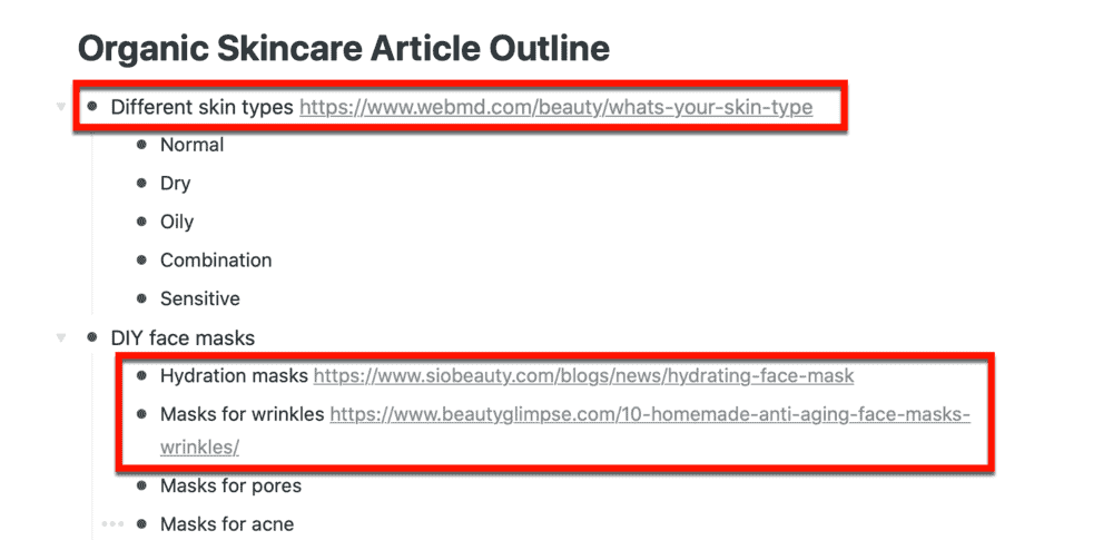 Adding links to sources on Workflowy