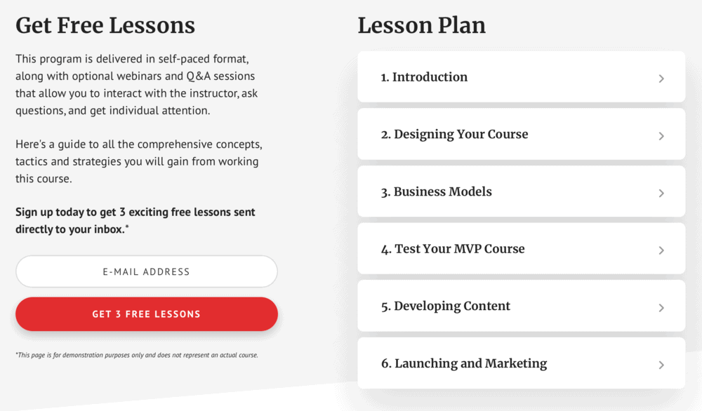 Academy Pro Lesson Plan