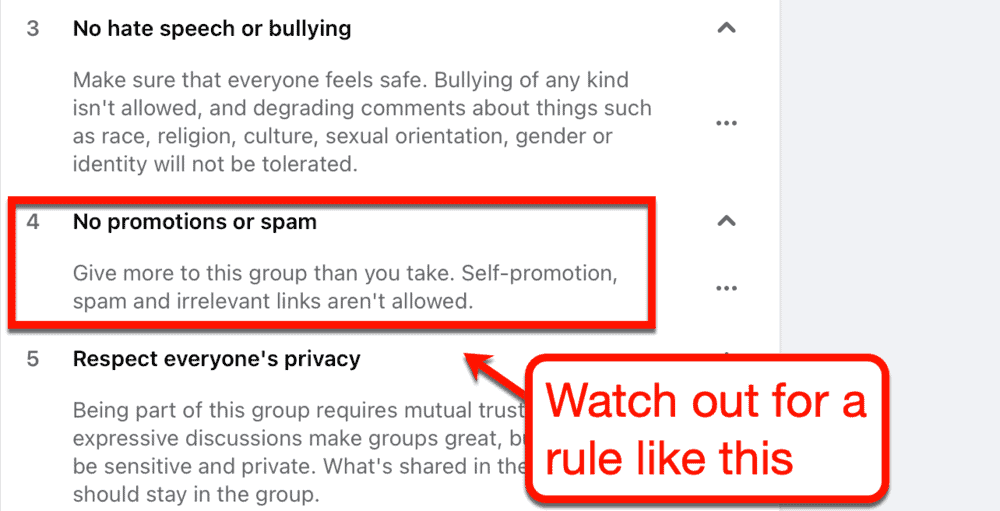 Social Media Group Rules