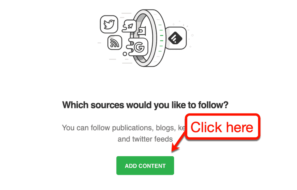 Adding Content to Feedly