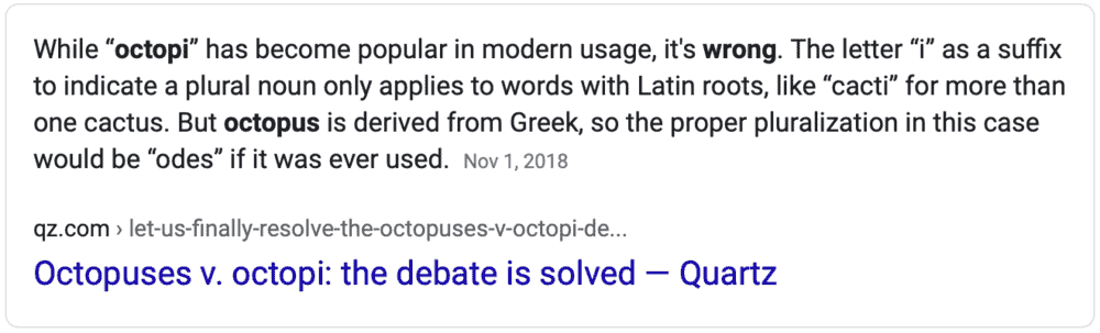 Is Octopi Correct
