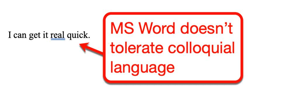 Microsoft Word Blue Underline