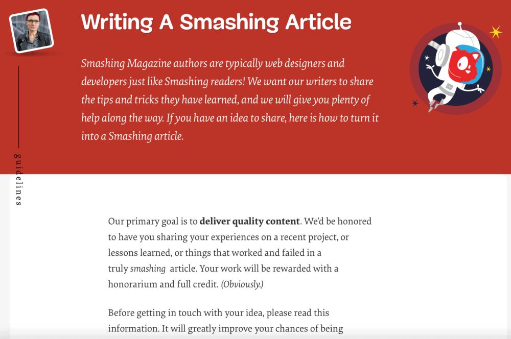 Smashing Magazine Guidelines