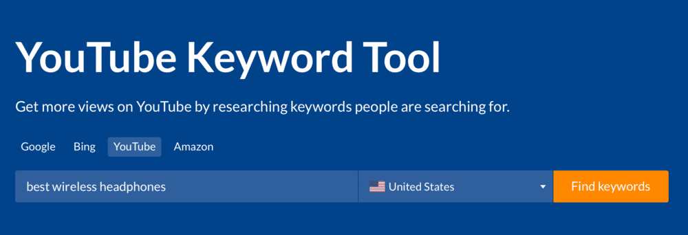 YouTube Keyword Tool by Ahrefs