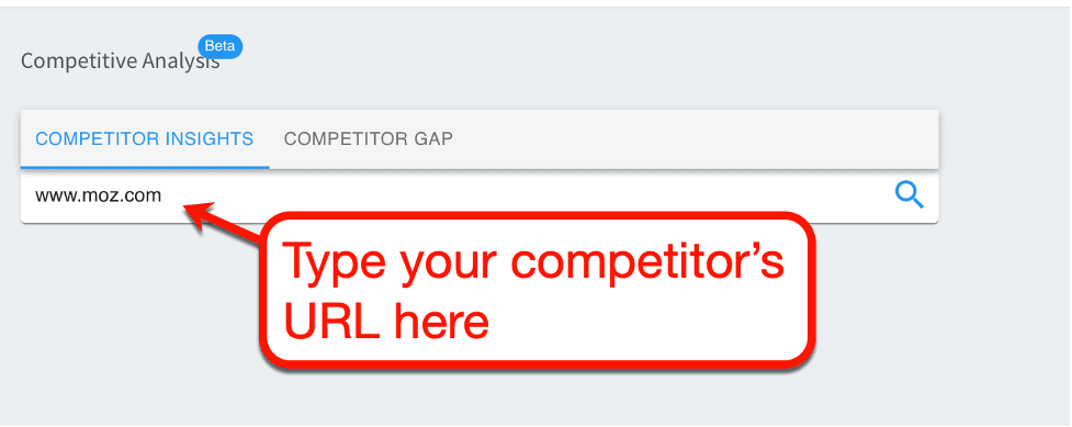 Competitive Analysis URL