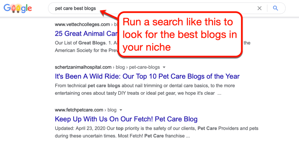 Best Pet Blogs on Google