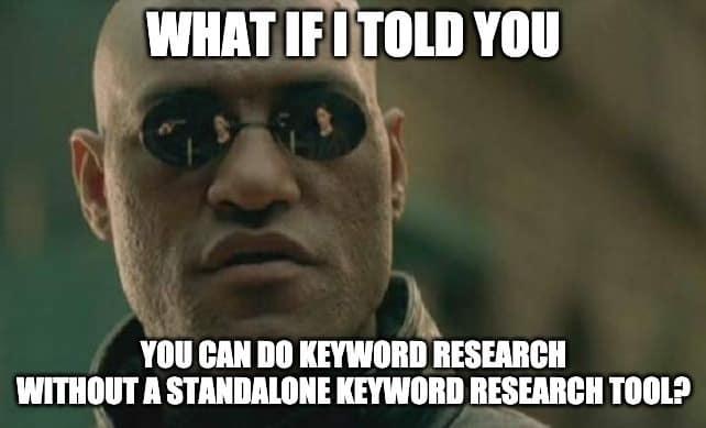 Keyword Research Extensions Meme