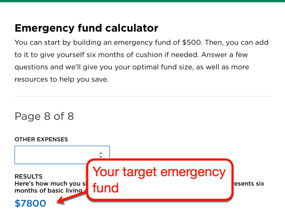 NerdWallet Emergency Fund Calculator