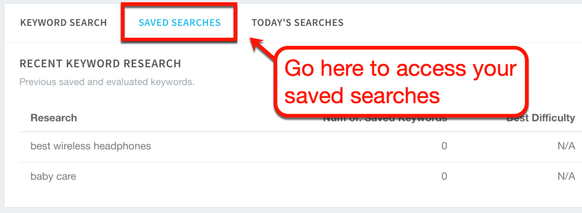 Saved Searches