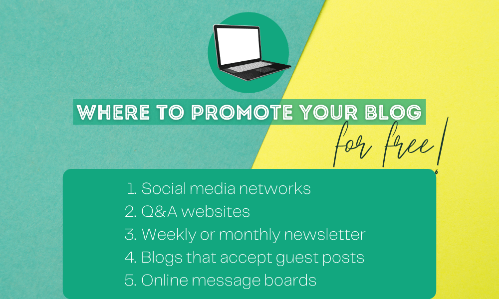 Where to Promote Your Blog for Free