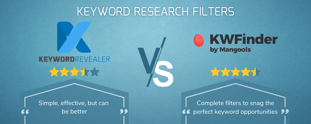 Keyword Research Filters Showdown