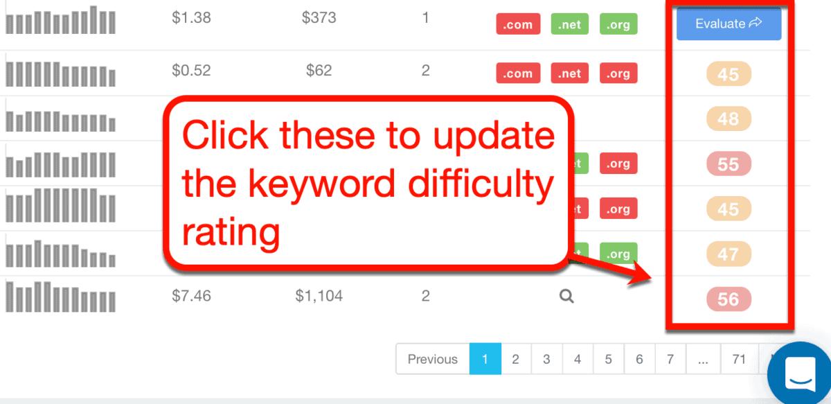 Keyword Revealer Evaluate Button