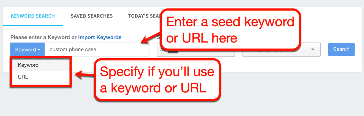 How to Use Keyword Revealer