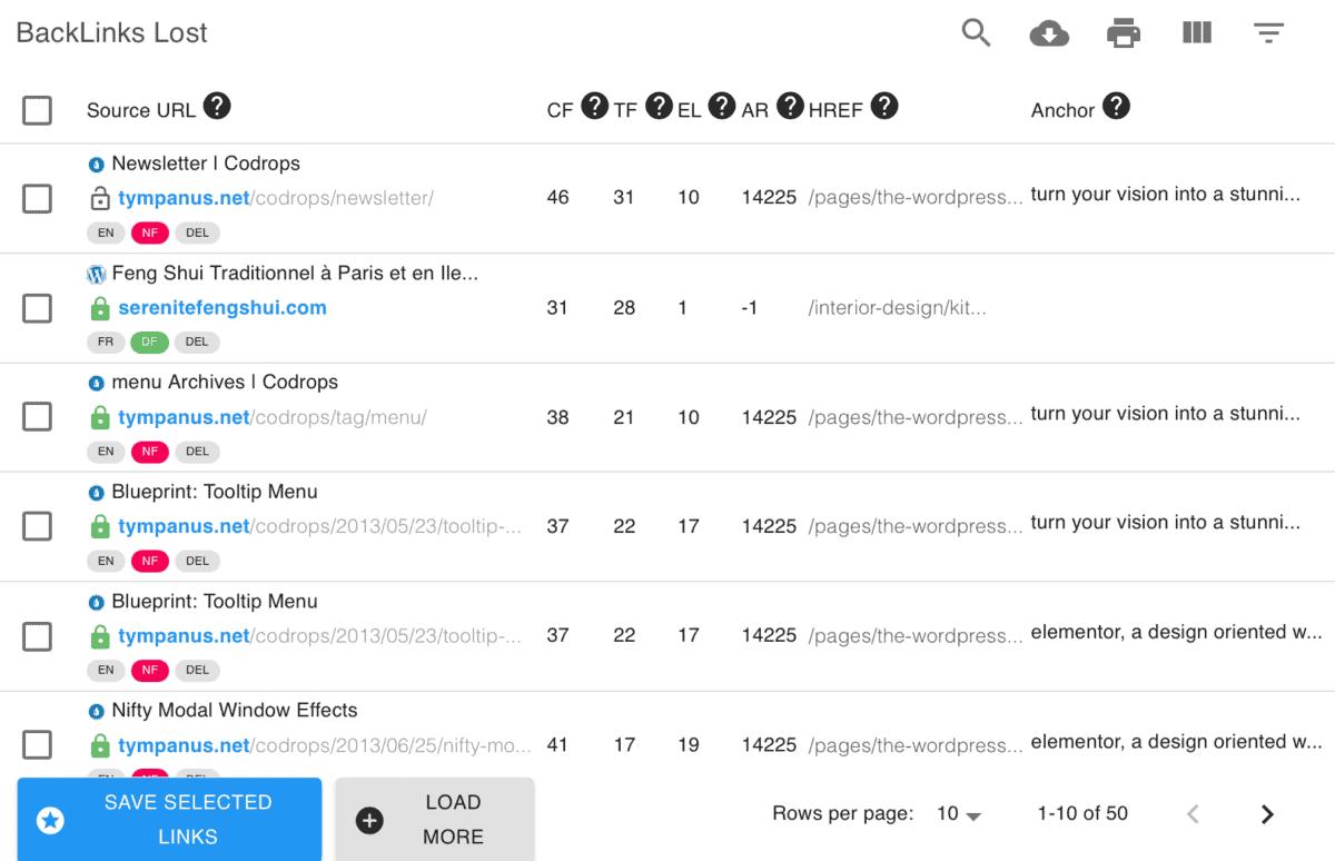 Keyword Revealer Lost Backlinks