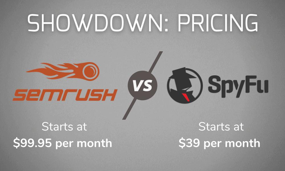 SEMrush vs SpyFu Pricing