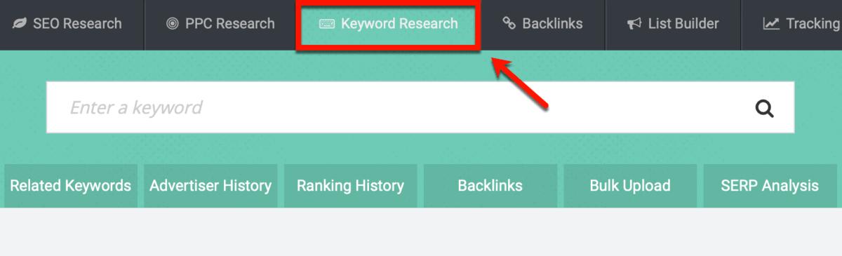 SpyFu Keyword Research Tool