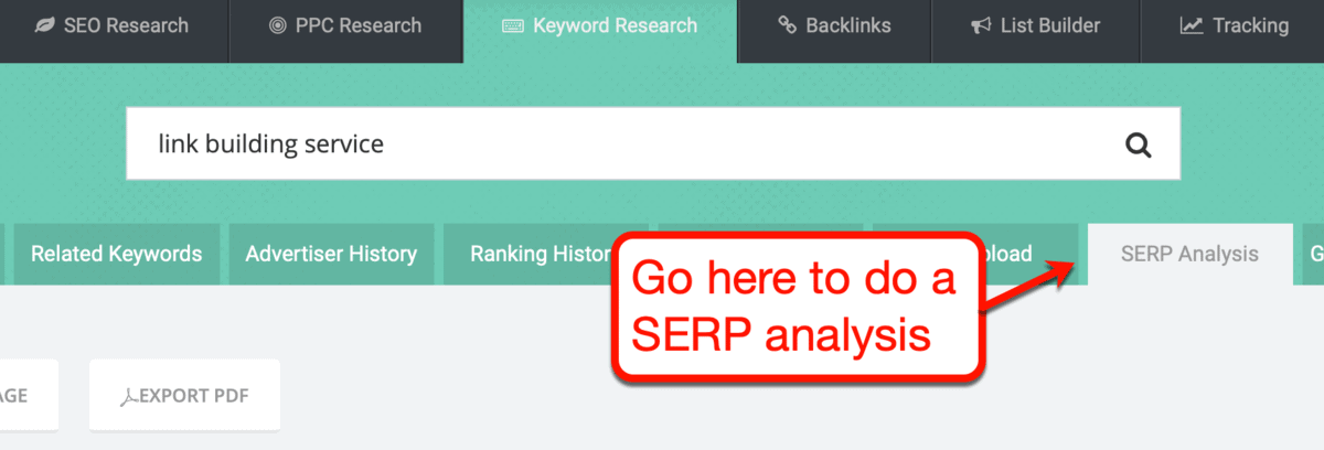 SpyFu SERP Analysis Tool