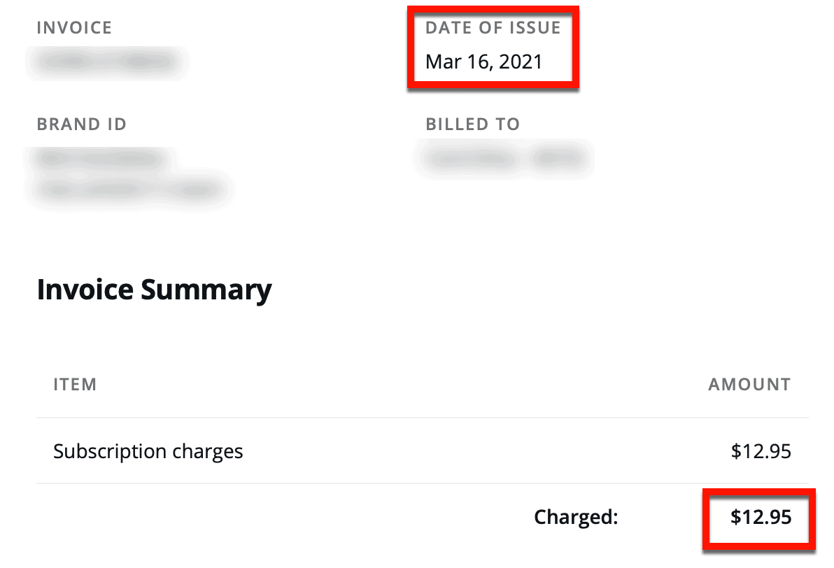 Canva Invoice Example