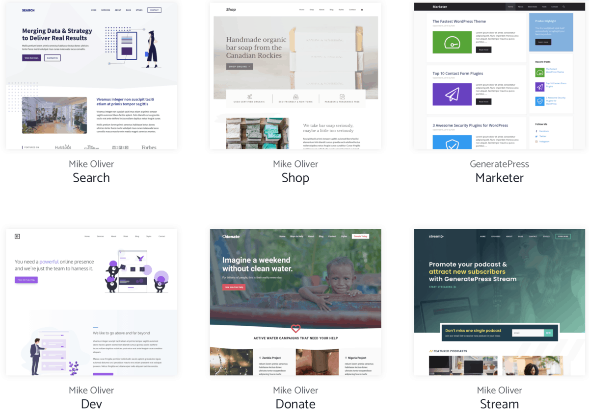 GeneratePress Theme Library