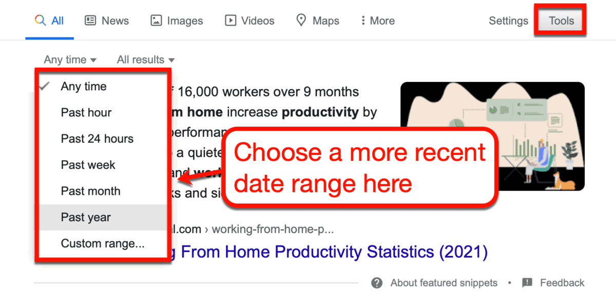 How to Set a Date Range on Google