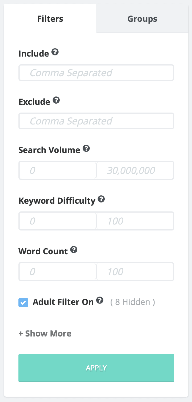 Keyword Filters