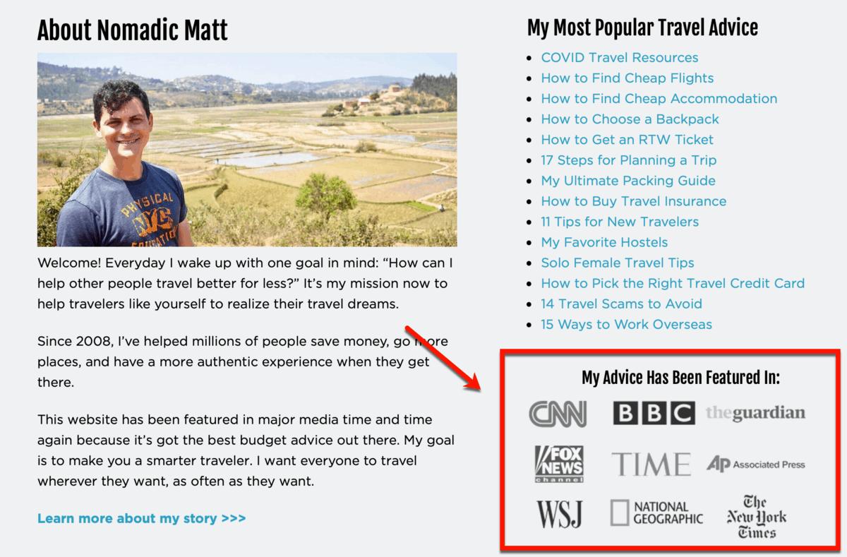 Nomadic Matt As Featured In