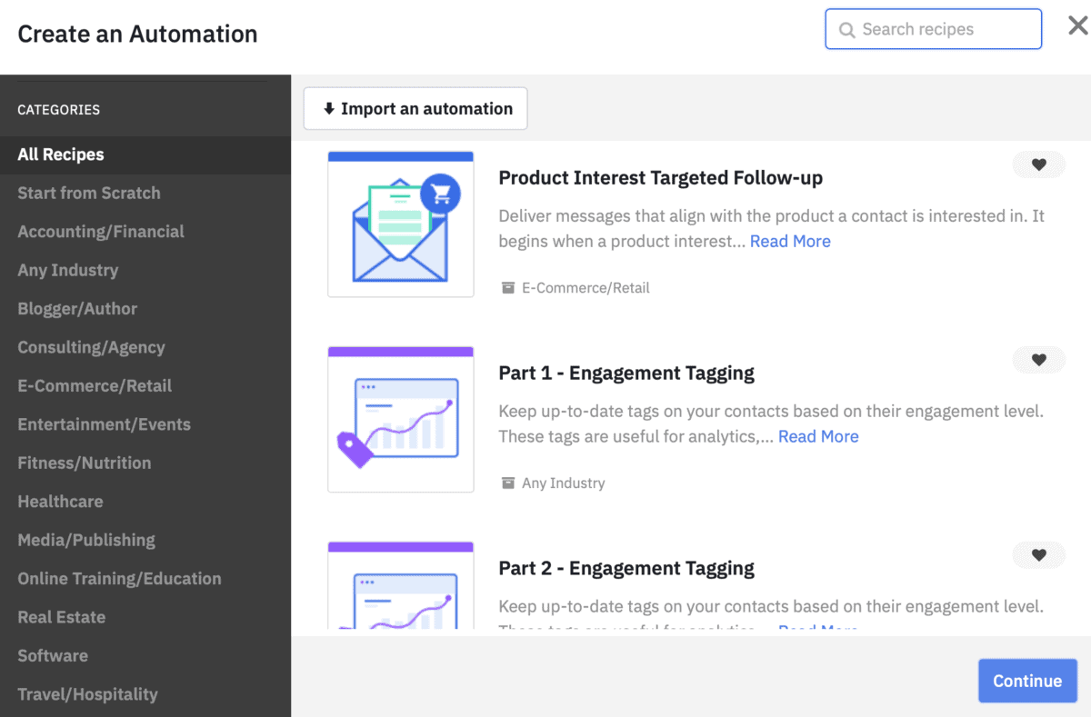 ActiveCampaign Email Automation Recipes