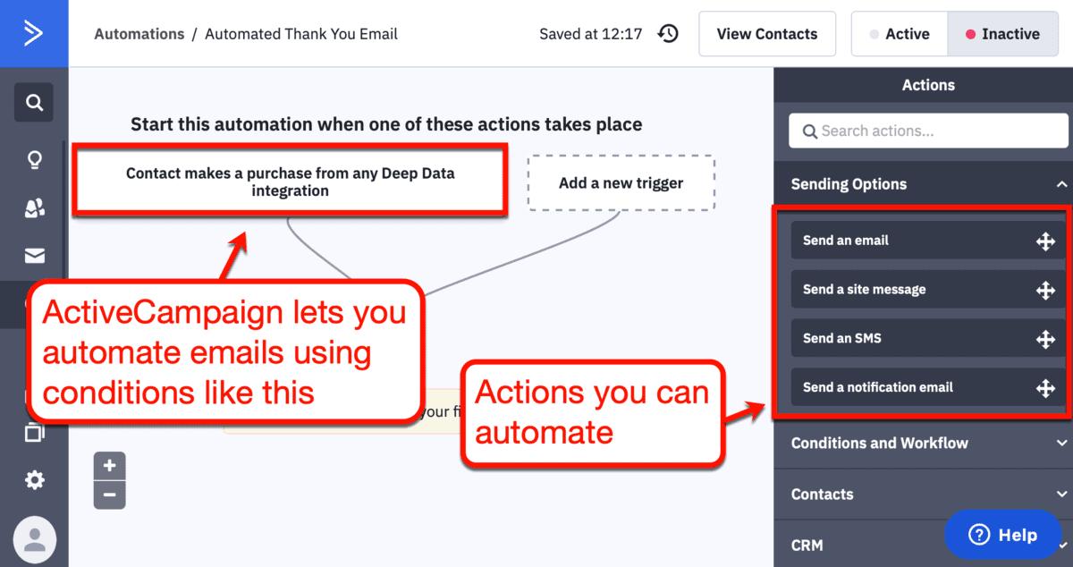 ActiveCampaign Automation Builder
