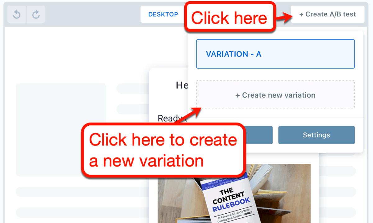ConvertBox Create AB Test