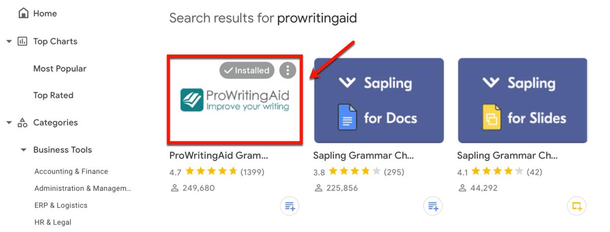 ProWritingAid on Google Workplace Marketplace