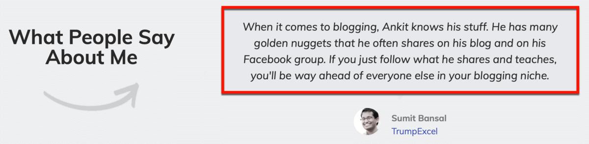 Master Blogging Testimonial