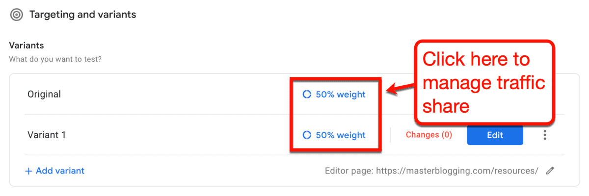 Optimize Traffic Weight