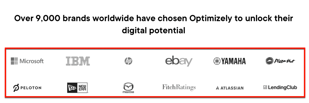 """Optimizely """"Trusted By"""" Logos"""