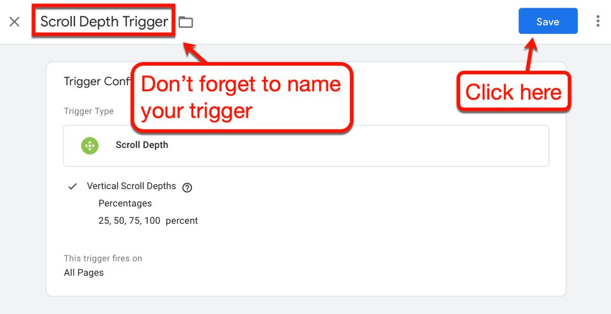 Save New Trigger