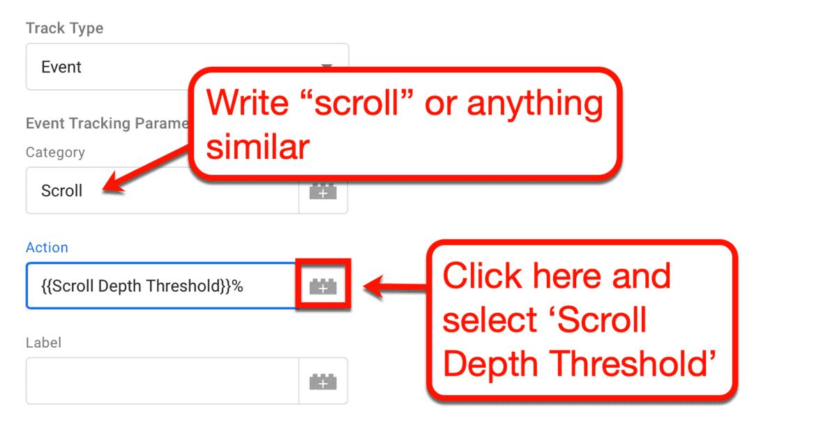 Scroll Depth Action