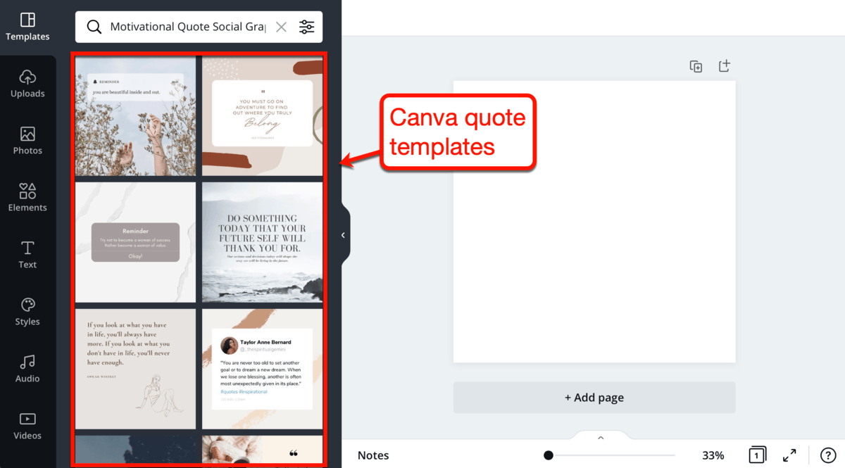Canva Image Quote Templates