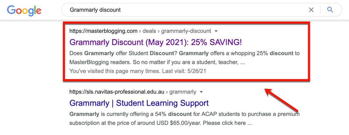 Grammarly Discount Ranking
