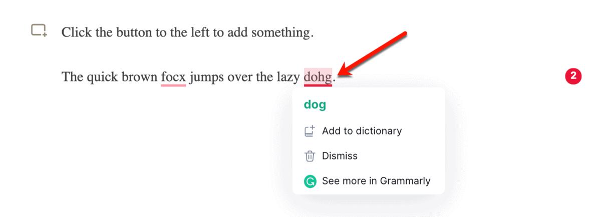 Grammarly Extension on LinkedIn