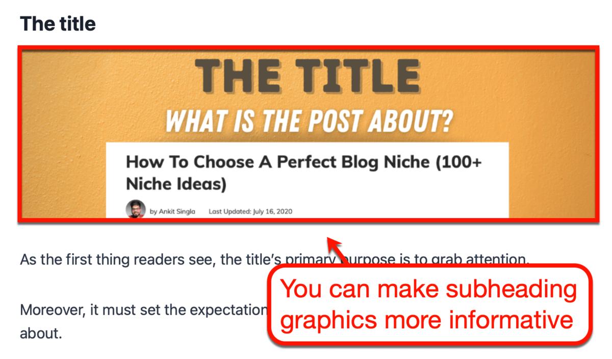More Informative Heading Graphics