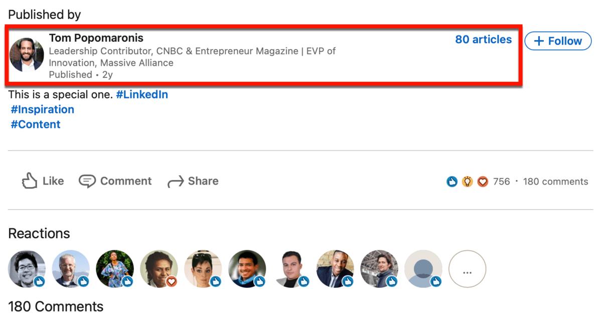 LinkedIn Author Box