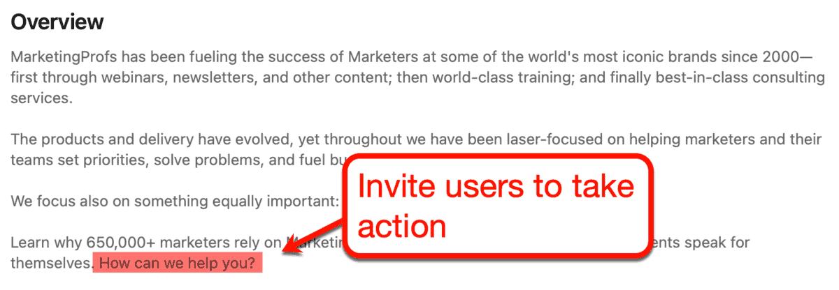 MarketingProfs Overview