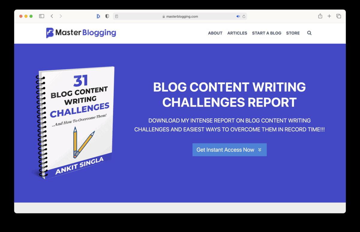 Master Blogging