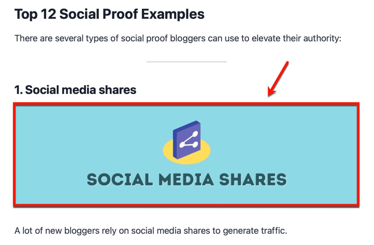Social Proof Post Headings