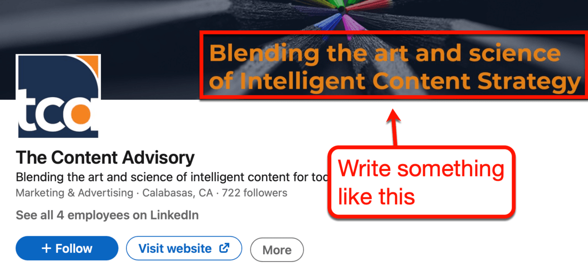 The Content Advisory LinkedIn Page