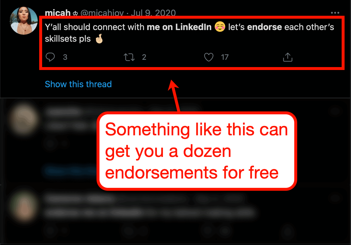Endorsement Requests on LinkedIn