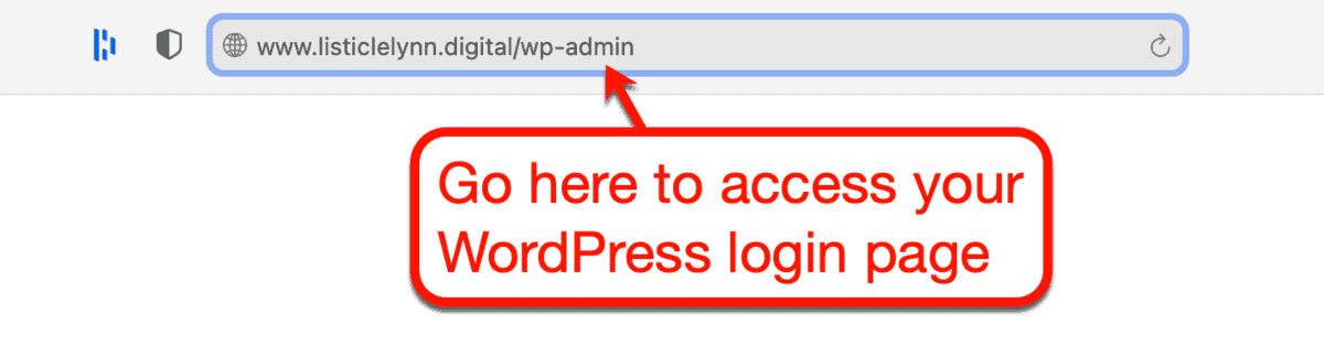 WordPress Admin URL