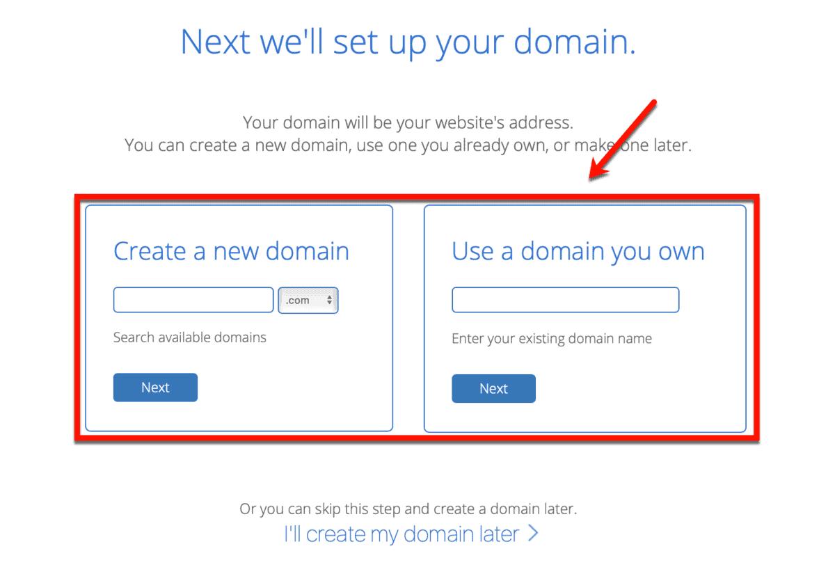 Bluehost Domain Setup