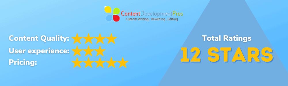 Content Development Pros Ratings