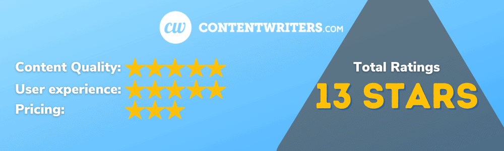 ContentWriters Overall Ratings