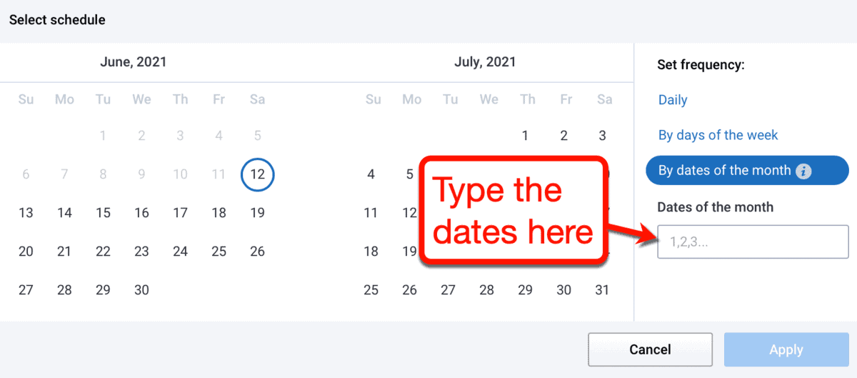 Keyword Tracking by Dates of the Month